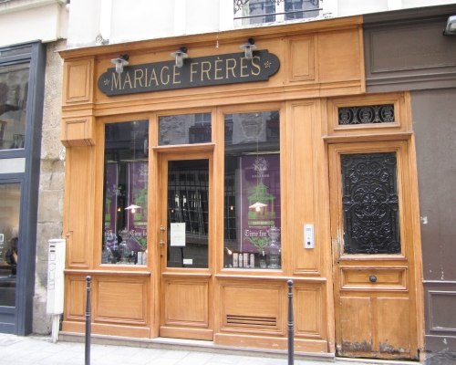 Mariage Freres, on 30 Rue du Bourg Tibourg in Paris