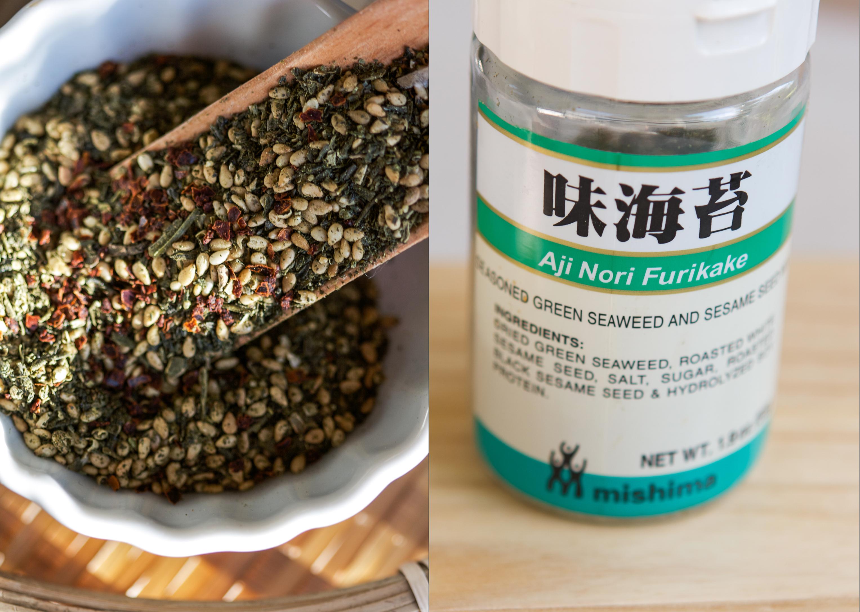 Homemade green tea furikake verses the store-bought version