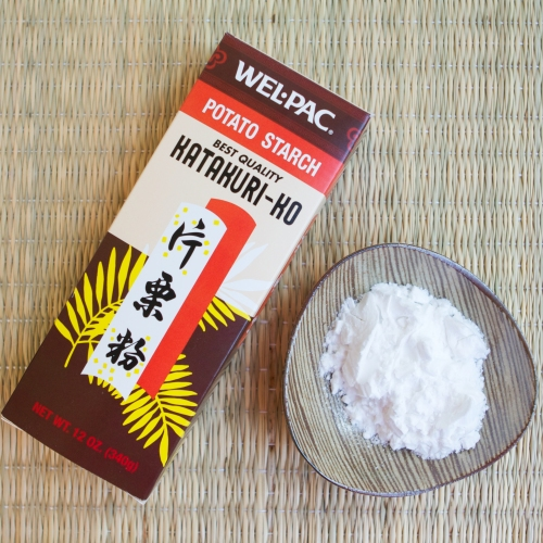 Potato starch, similar to cornstarch and equally messy