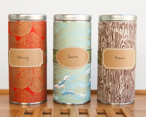 DIY Japanese Washi Tea Tins