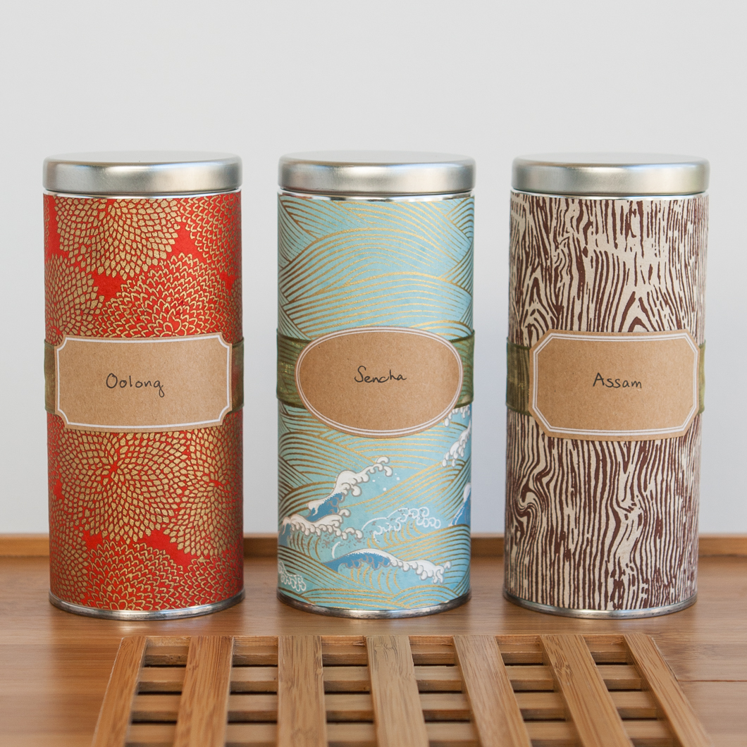 Canisters For The Kitchen Diy Japanese Washi Tea Tins Thirsty For Tea