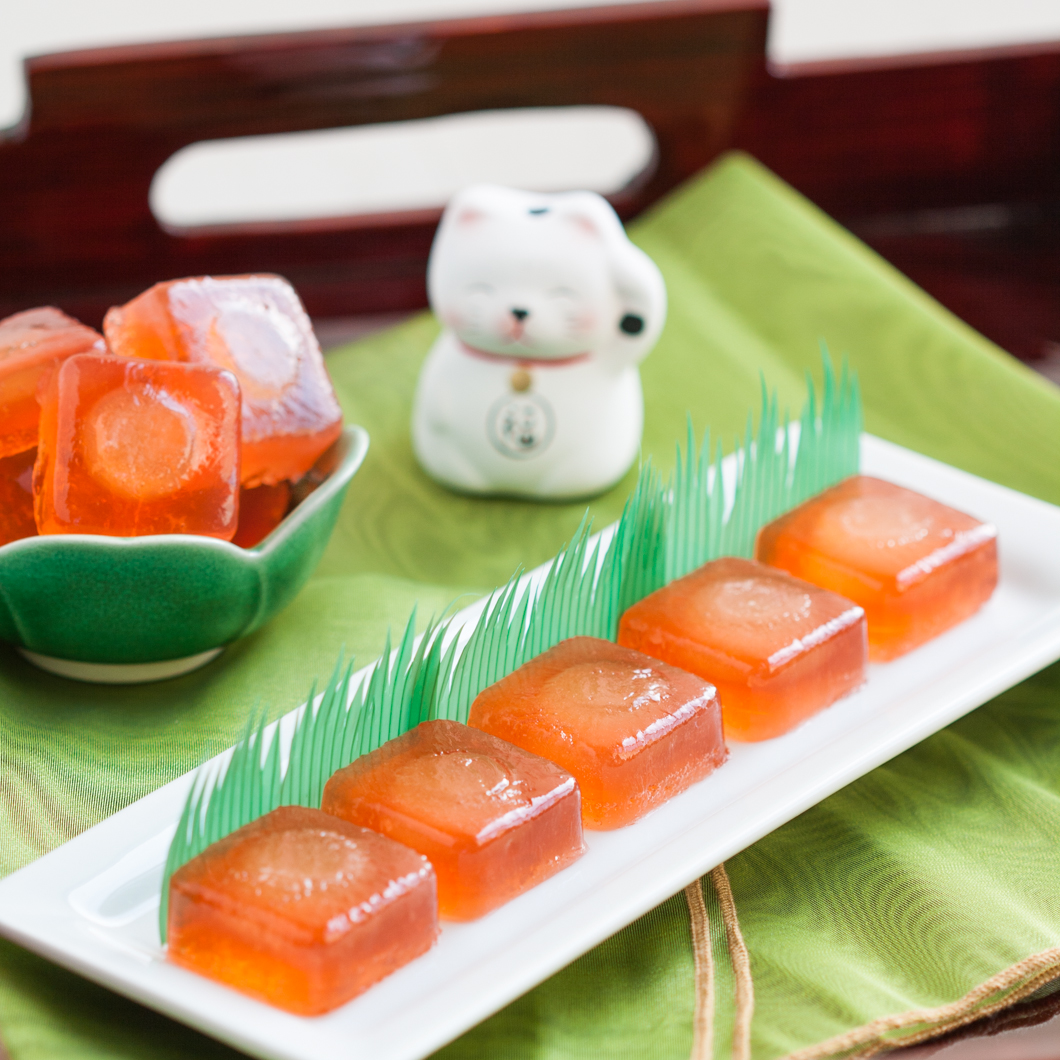 Lychee Vodka Tea Jellies | Thirsty for Tea