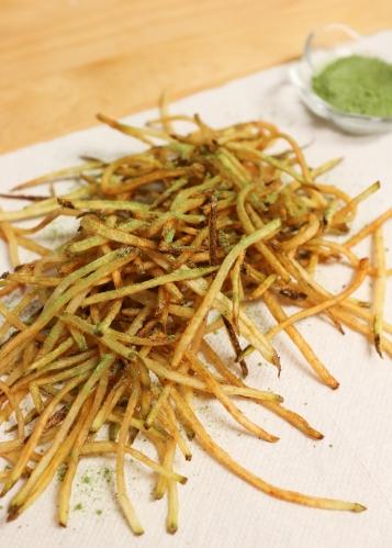 making matcha fries 5