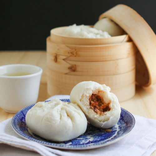Dim Sum Recipe #8:  Steamed BBQ Pork Buns (Char Siu Bao)